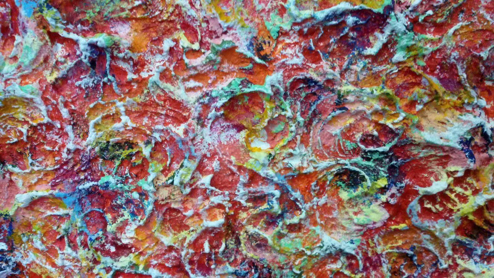 Verticaal schilderij cheap voorzijde schilderij met buffer uit